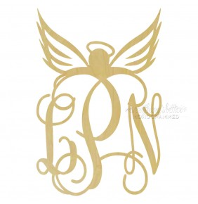 Angel Vine Wood Monogram