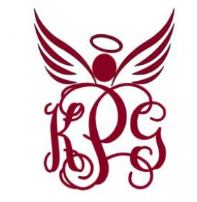 Angel Interlocking Vinyl Monogram 5""